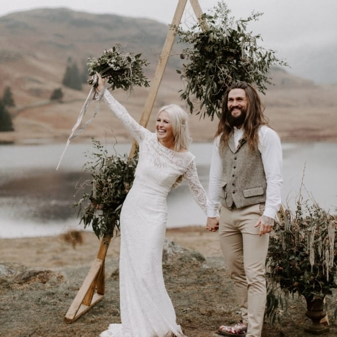 Wild Bohemian Lake District Elopement