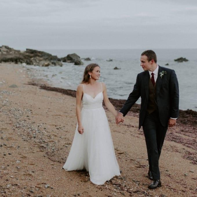 Botanical Coastal Isle of Wight Wedding